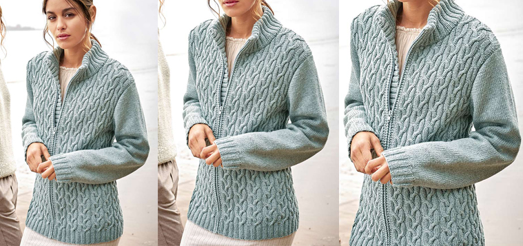 Zipper-Cardigan